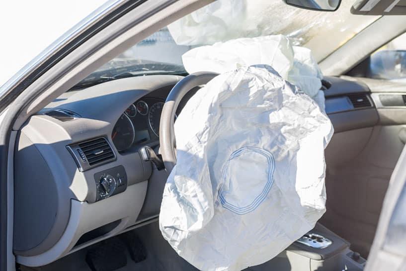 Automobile airbag injury in Mesa, AZ