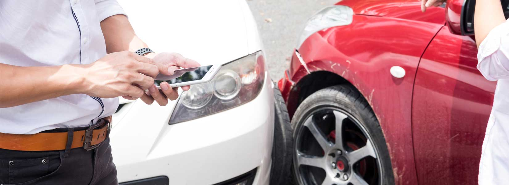 using phone after car collision