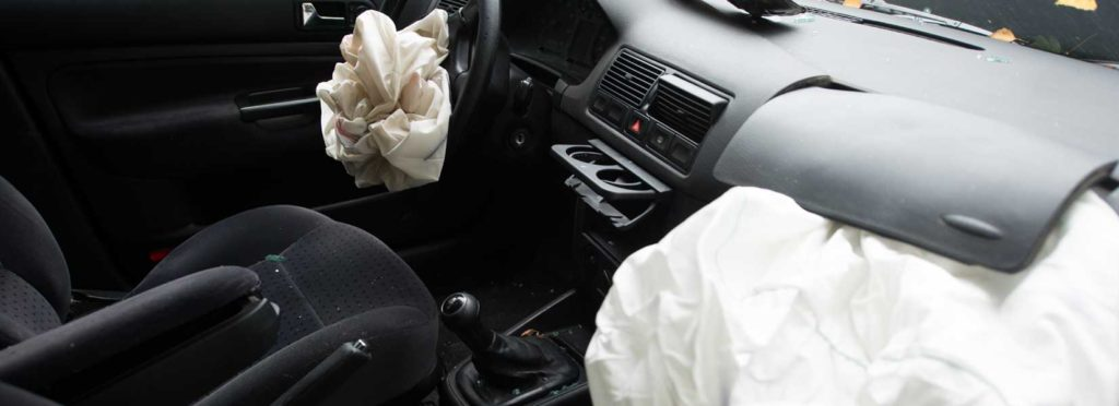 Takata airbags after a car crash