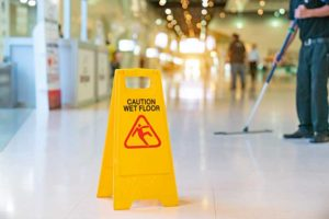 Picture of a wet floor sign in Arizona
