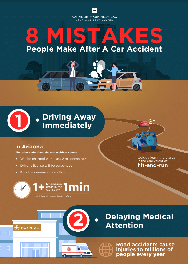 Infographic: 8 Mistakes People Make After A Car Accident